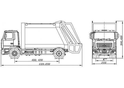 Автомобиль Мусоровоз 69304А