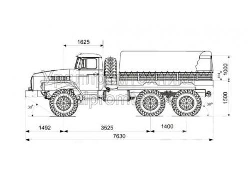 Бортовой автомобиль Урал-4320-0111-61 (Код модели: 5301)