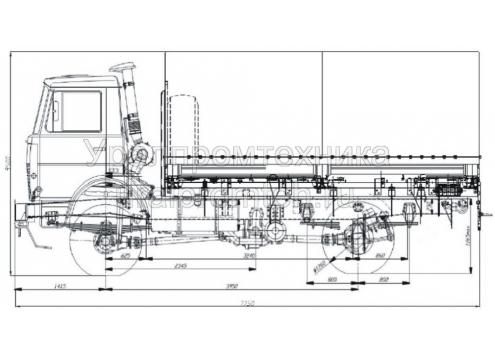Бортовой автомобиль Маз-543403-260Р (4387) (Код модели: 5501)
