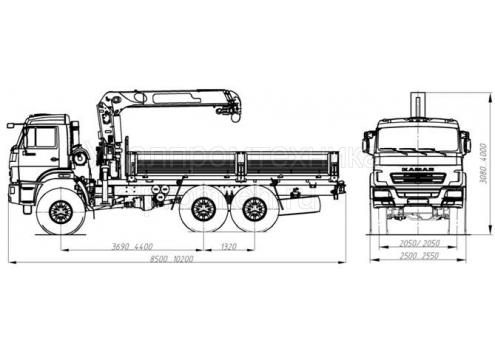 Автомобиль бортовой с КМУ на шасси КАМАЗ 43118 (43871E) (Код модели: 5403)