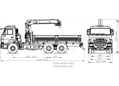 Автомобиль бортовой с КМУ на шасси КАМАЗ 65115 (43871F) (Код модели: 5404)