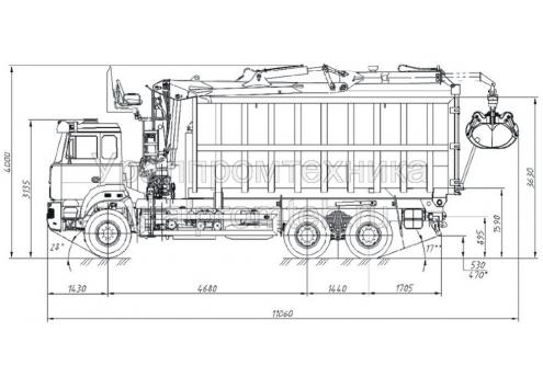 Металловоз на шасси Урал 63685-6111-01 с КМУ (583108)