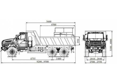 Шламовоз на базе самосвала 58312P (Урал-NEXT) (Код модели: 1503)