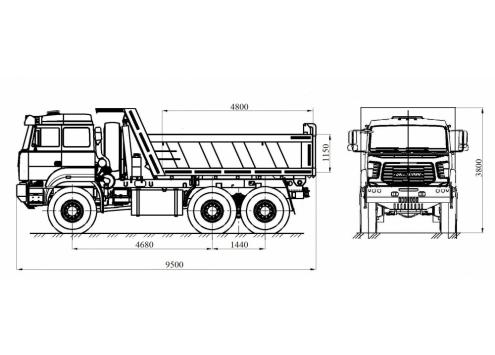 Самосвал Урал 6370 (583166) (Код модели: 1105)