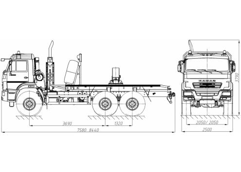 Тягач трубоплетевозный КамАЗ 43118 (59601В) (Код модели: 4105)