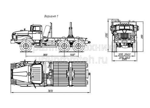 Лесовозный тягач на шасси Урал 55571 (59602C) (Код модели: 4401)
