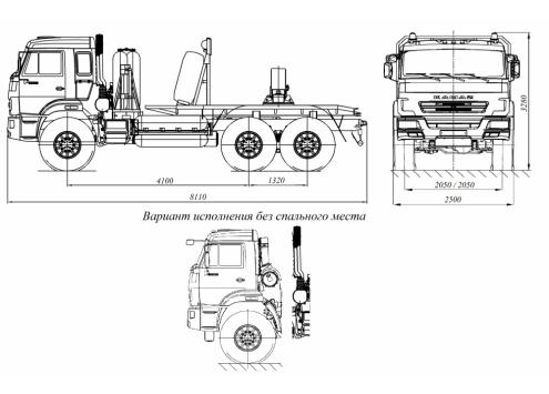 Тягач трубоплетевозный КамАЗ 43118 газомоторный (5960G1) (Код модели: 4112)
