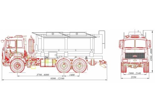 Автомобиль для сбора нефтеконденсата АКН-15 (шасси МАЗ 6317X5) (Код модели: 2206)