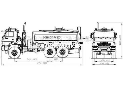 Автотопливозаправщик АТЗ-10 66021А (шасси КамАЗ 43118) (Код модели: 2104)