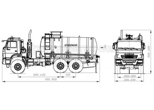 Автотопливозаправщик АТЗ-10 (шасси КамАЗ 43118) (Код модели: 2105)