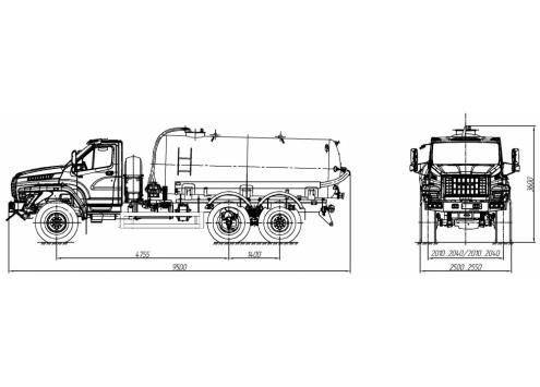Машина вакуумная МВ-10 66034P (шасси Урал-NEXT) (Код модели: 2301)