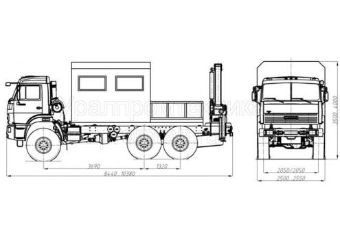 Агрегат для ремонта и обслуживания станков-качалок АРОК (КамАЗ-43118, модель 69011A) (Код модели: 3304)