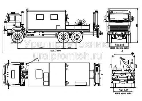 Агрегат для ремонта и обслуживания станков-качалок АРОК (Урал-4320, модель 69022P) (Код модели: 3301)
