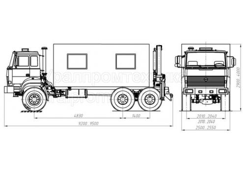 Передвижная авторемонтная мастерская ПАРМ с КМУ - Урал-4320 (69022P) (Код модели: 3103)