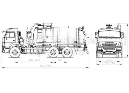 Агрегат для сбора газового конденсата и нефтепродуктов АКН-15 (шасси КамАЗ 65115) (Код модели: 2205)
