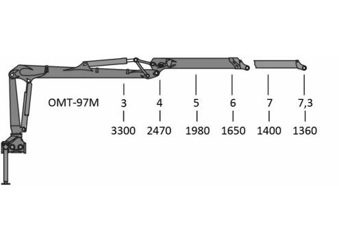 Гидроманипулятор ОМТ-97М (Код модели: 7501)