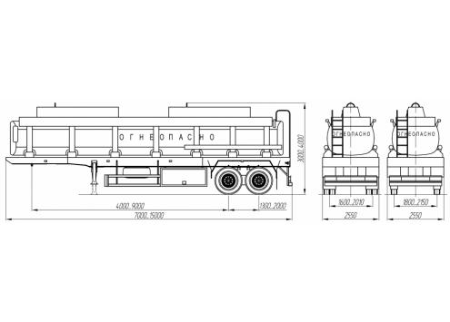 Полуприцеп цистерна для ГСМ (93851A) (Код модели: 6801)