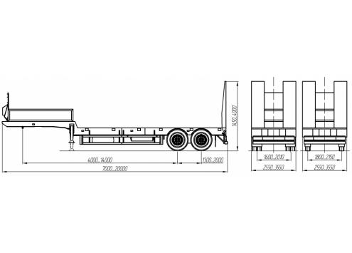 Полуприцеп тяжеловозный (93851A) (Код модели: 6902)