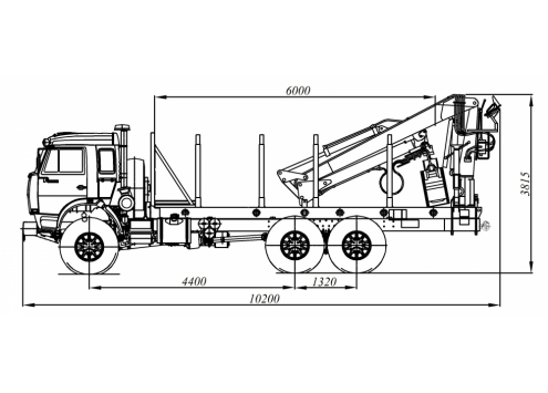 Cортиментовоз с гидроманипулятором на шасси КамАЗ 43118 (59601E) (Код модели: 4802)