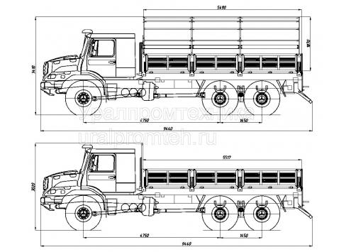 Бортовой автомобиль Zetros 6x6 (Код модели: 5903)