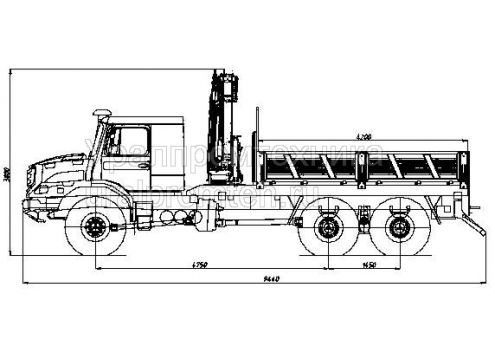 Бортовой автомобиль с КМУ Zetros 6x6 (Код модели: 5904)