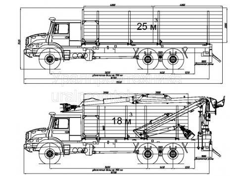 Сортиментовозы Zetros 6x6 (Код модели: 5907)