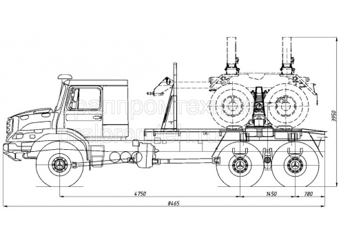 Трубоплетевоз Zetros 6x6 (Код модели: 5906)