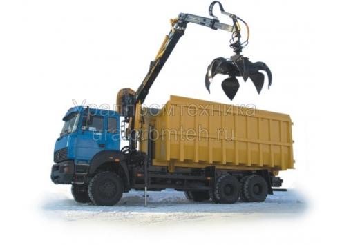 Металловоз Урал с гидроманипулятором ОМТ-97М
