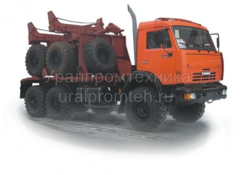 Трубоплетевозный КамАЗ 43118 (596015) с прицепом-роспуском