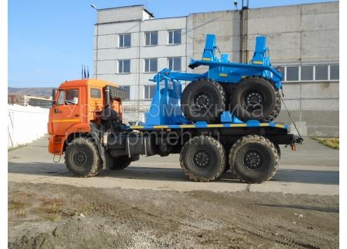Трубоплетевозный КамАЗ 43118 с прицепом роспуском