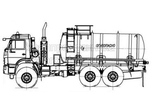 Автотопливозаправщик АТЗ-10 на шасси КамАЗ 43118