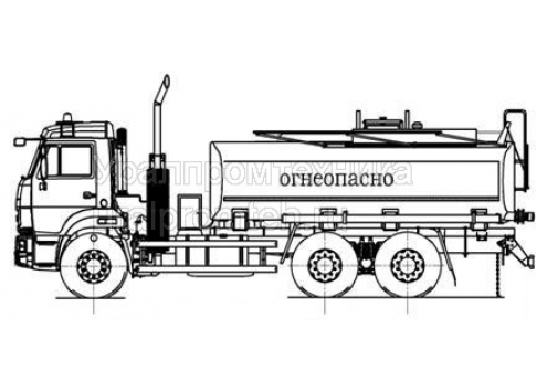 Автотопливозаправщик АТЗ-15 66021B (шасси КамАЗ 65115)