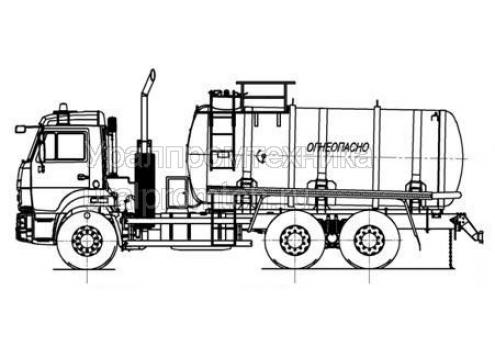 Автотопливозаправщик АТЗ-15 на шасси КамАЗ 65115