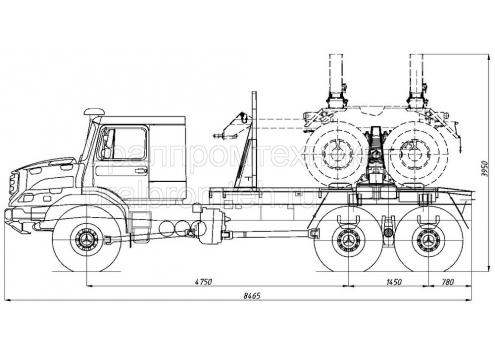 Трубоплетевоз Zetros 6x6