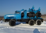 Трубоплетевозный автопоезд Урал 4320