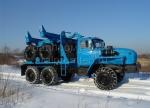 Новый трубоплетевозный тягач Урал с прицепом-роспуском