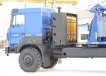Новый газомоторный трубоплетевозный автопоезд Урал-4320