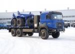 Новый Урал с газовым двигателем - Трубоплетевоз с роспуском