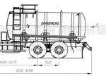 Автотопливозаправщик АТЗ-15 (шасси КамАЗ 65115)