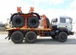 Новый трубоплетевоз Урал 6370 с прицепом роспуском