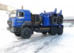 Трубоплетевозный автопоезд Урал-6370 ГБО с прицепом-роспуском 904706