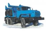 Трубоплетевозный автопоезд Урал с прицепом-роспуском