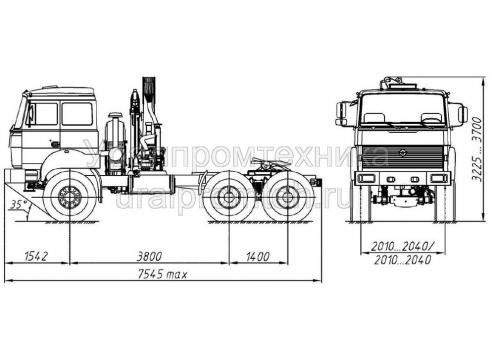 Автомобильный кран-манипулятор на шасси Урал-44202 (69022D) (Код модели: 5102)
