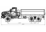 Длиннобазовый самосвал Урал-NEXT с боковой разгрузкой