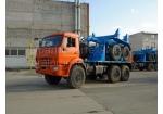Тягач трубоплетевоз КамАЗ 43118 с прицепом-роспуском