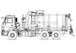 Машина вакуумная МВ-15 на шасси КамАЗ 65115