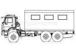 Транспортно-бытовая машина КамАЗ-43118